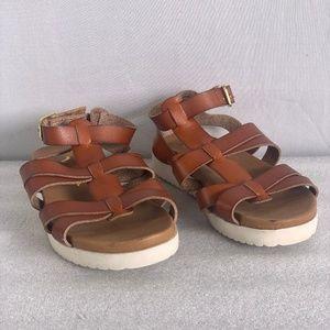 Girl's Nina Alpha Gladiator Sandals - Brown